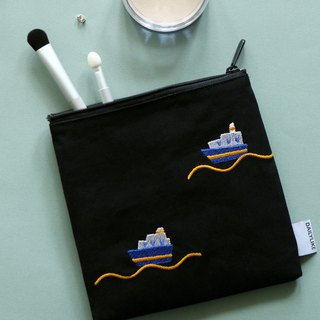 Small fresh embroidery storage bag -11 sailing, E2D16425
