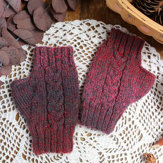 Handmade - European style gradient - knit gloves wool hand