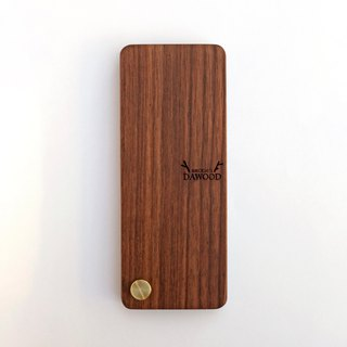 Narrow version of walnut solid wood business card holder / business card holder / custom lettering / custom engraved / customized