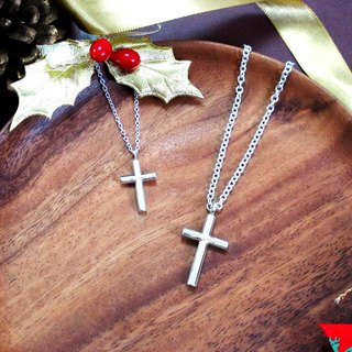 Cross Wishes Cross Sterling Silver Clams (Large - Without Chain) - 64DESIGN