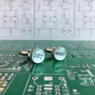 【Electronic Zero】 SET? RESET? Cufflink 【Electronic parts】