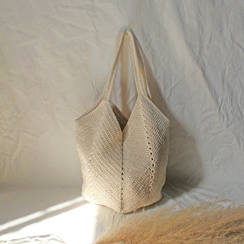 Cream Tote Bag ,Market Bag ,Cream / Beige Crochet Bag ,Shopping Bag