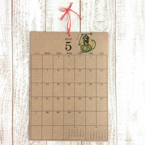 "2018 Hanami calendar ""12 months of flower girls"" Free birthday ☆"