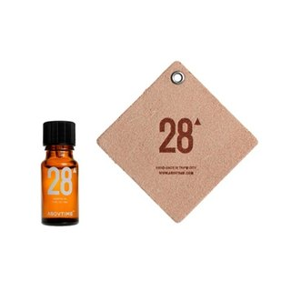 ABOVTIME Natural Car Fragrance Leather Tag + Special Essential Oil 28 - Must Be Punctual
