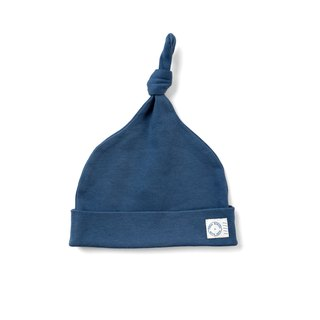 Marine Blue Knot Hat  100% Organic Cotton for baby