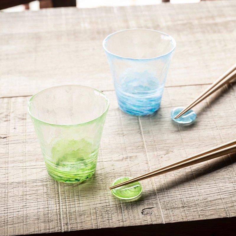 日本津輕 手作漩渦玻璃燒酌杯 飲料杯 / 共3色