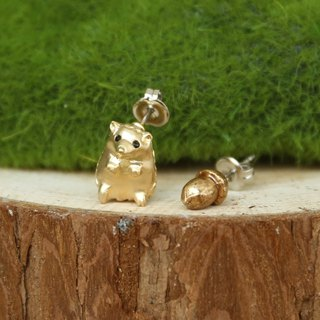 Japanese handmade ornaments - small hedgehog earrings