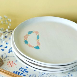 Rotate the circle  Plate / dessert dish / Hand made Limited Edition