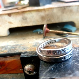 V5 - can't do the same 999 sterling silver ring (twill version) - vulcanized black style - royal smith