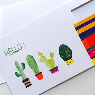 Pin Cards -  Summer / Sahara - Greeting Frame Card