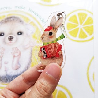 Key ring - accordion bunny