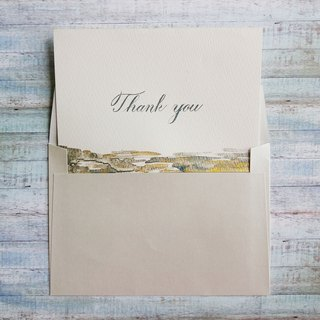 Mstandforc Handmade Card Thank You Card