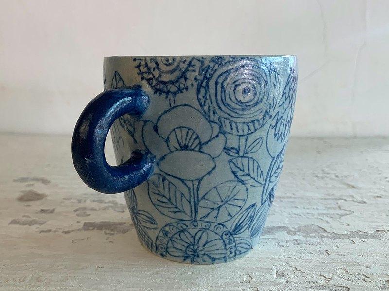 霧裡看花陶製咖啡杯_陶器馬克杯