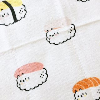 Sushi Summary Cat Multipurpose Small Square / Towel