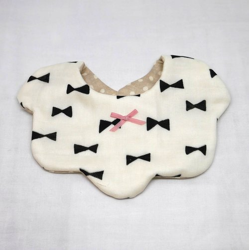 Japanese Handmade 8-layer-gauze Baby Bib / ribbon