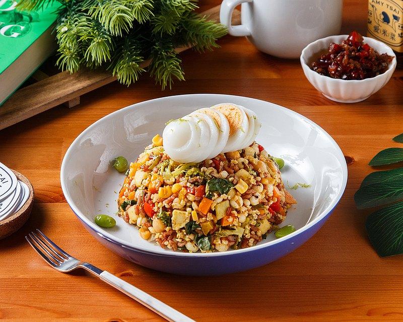 愛米菜・招牌高纖蔬果沙拉飯・精緻蔬食套餐