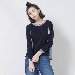 Hugo rain fruit different material casual top _7SF101_ wool / stripes