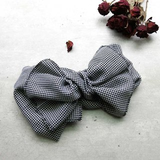 Giant butterfly hair band (Houndstooth) - the whole strip can be taken apart!