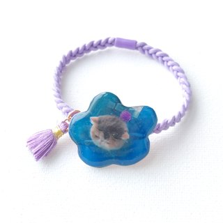 Handmade  Exotic Cat Jojo in Flower Collar 2 ways Elastic  & Bracelet