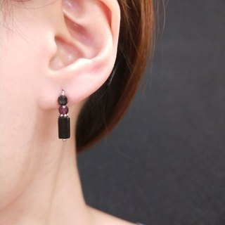 earring. Tourmaline * red stone meteorite [two way] clothing stickers ear earrings