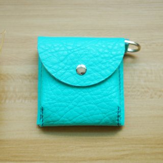 Hand-stitched leather packet change (Tiffany blue)