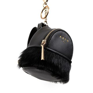[Hong Kong, Macao and Taiwan] cute mini mini leather horse hair purse key bag with carry card