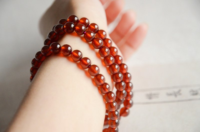 [长歌] Natural Orange Garnet Classical Bracelet Bracelet