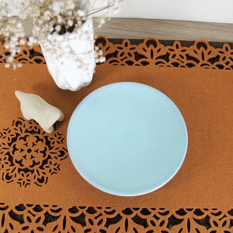Turkish blue pottery plate, plate, dinner plate, fruit plate, snack plate - about 15.5 cm in diameter