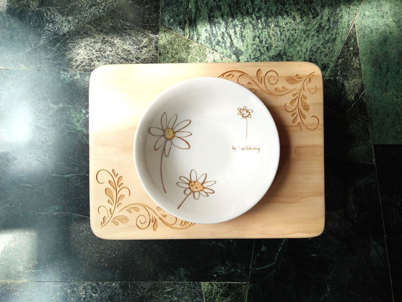 "Hairy Kids Table Series--""Early Spring"" Log Pet Table Dish"