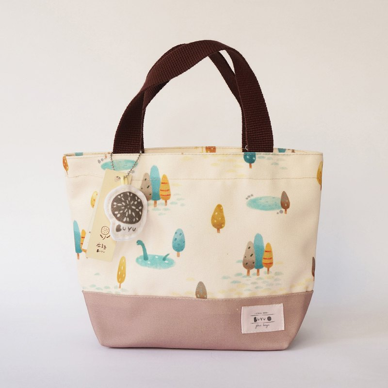 Tote bag - water monster in the woods