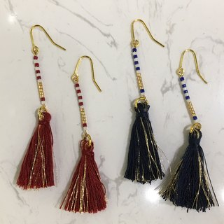 ololssim retro shape tassel hanging earrings ethnic