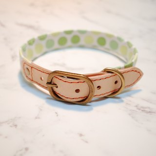 Dog collar L number of rings (not tag) my little melon cute little Japanese tanned leather turtles watermelon tag