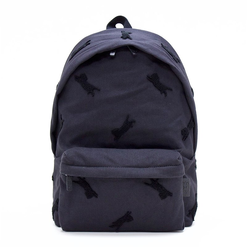 Aristocat 3D Embroidery Canvas Backpack ( Black )