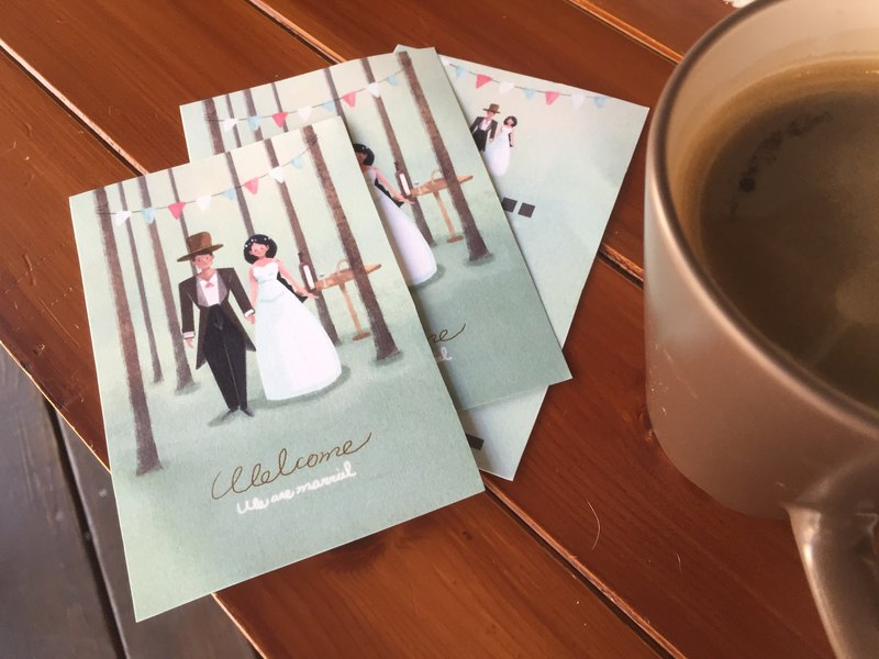 Customized wedding card (including printing)