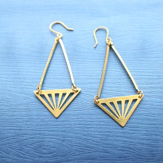 Brass handmade earrings