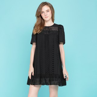 Black Blouse cotton Lace Fabric