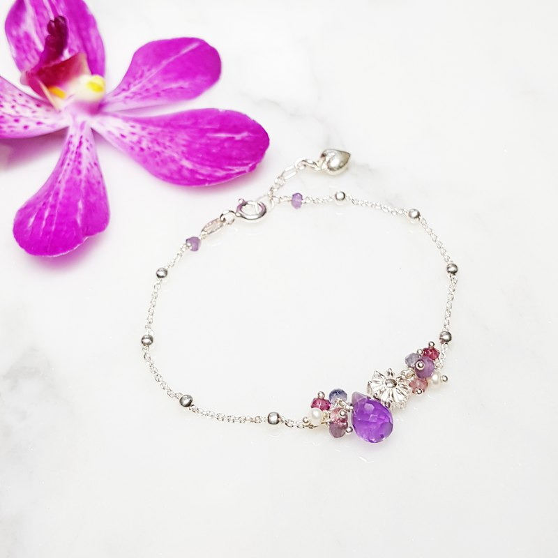 Elegant Chick Collection ~ Amethyst Sterling Silver Bracelet Amethyst
