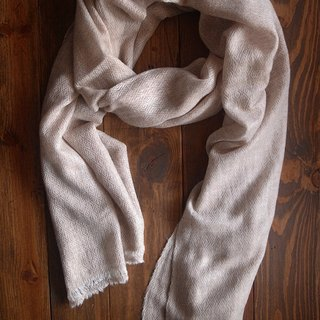 【Grooving the beats】Cashmere Stripes Shawl / Scarf / Stole Handmade from Nepal(Diamond_Light Brown)