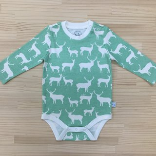 gujui love elk (Green Lake) - Organic cotton long sleeve package fart clothing 3 ~ 6M