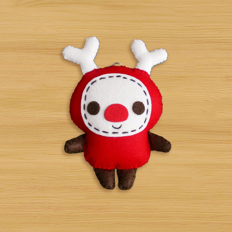 Spot _ handmade non-woven charm key ring _ cosmic cute little elk