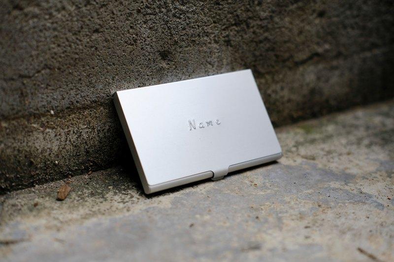 銀色名片盒 ( 打凸專屬客製 )  職場送禮  客製化刻字 少量客製化