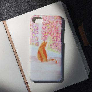 Orange cat in spring. Matte Case (iPhone, HTC, Samsung, Sony)