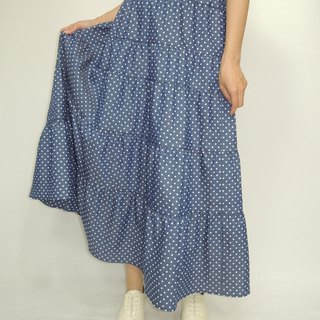 - Chicken Mother Dock - Cotton Cowboy Dot Cake Dress