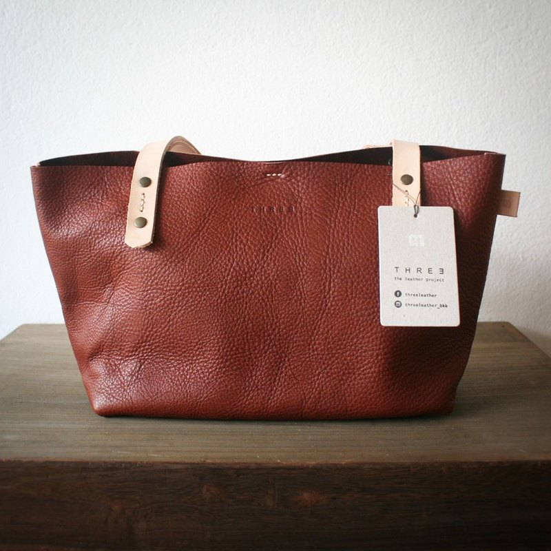 "NEW IN! ""MINI"" Leather Tote Bag I Brown Small Handbag."
