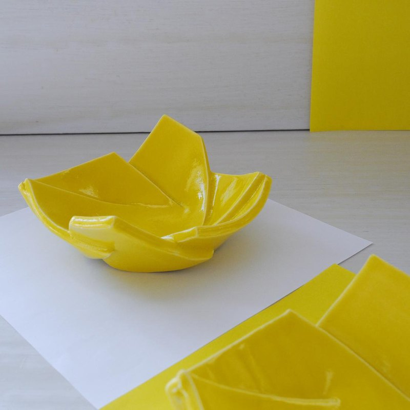 Small bowl ORIGAMI 【Yellow】