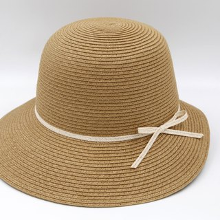 [Paper cloth home] Hepburn hat (coffee) paper line weaving