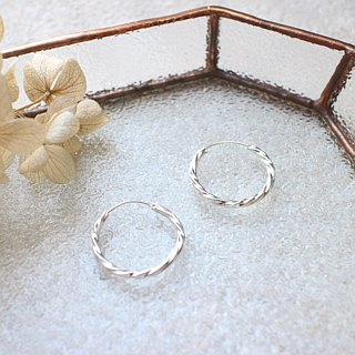 Silver circles-silver earrings