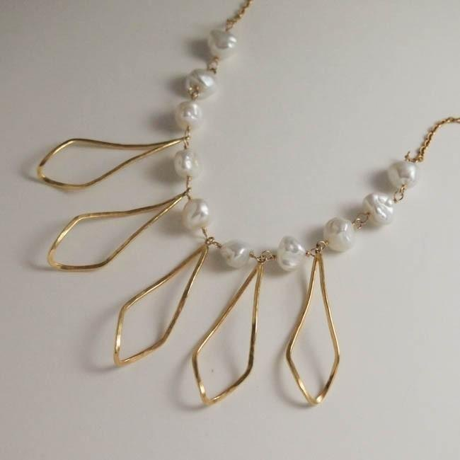long leaf necklace gd【FN202】