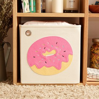 US kaikai & ash Toy Storage Box - Strawberry Frosting Donut