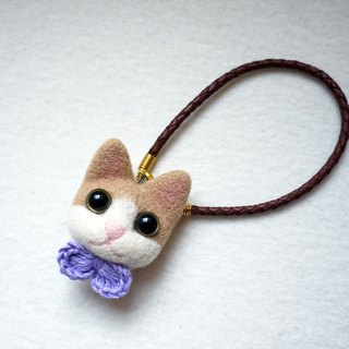 Petwoolfelt - Needle-felted cat accessories (bag charm / necklace)